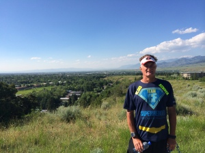 bozeman peets hill trail with Bozeman in background