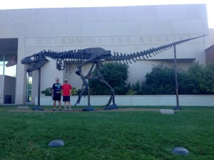 David and Patrick at the Museum of the Rockies. It houses some of the most famous dinosaur specimens in the world.