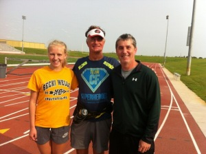 Elizabeth Yoder, David and Coach Greg Jung