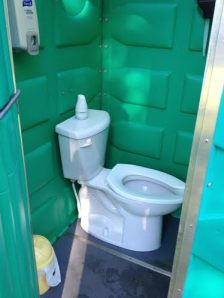 Flushing porta-potty!