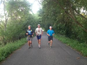 David, Andy and Alan on the Central Lakes Trail on