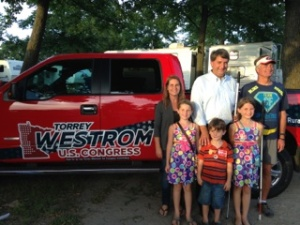 Sen. Westrom and family with David