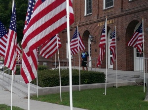 City Hall and Walk of Flags